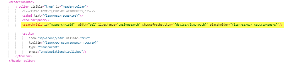 How To Use SearchField Control for FreeText Search on UI5